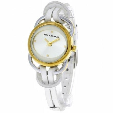Ted Lapidus - A0285PBPF - Montre Femme - Quartz Analogique - Cadran Blanc - Bracelet Cuir Blanc