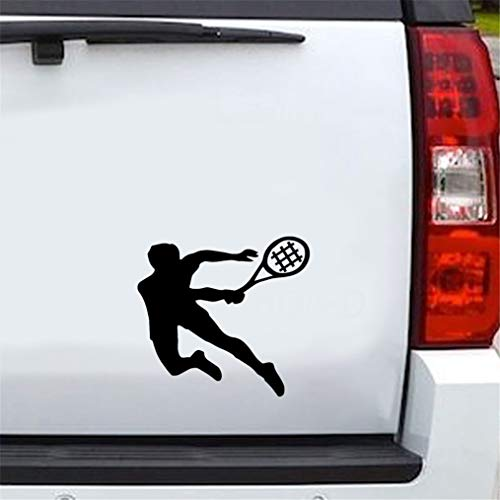 Auto Aufkleber Katze 14,7x13,7 cm Tennis Sport Decor Auto Aufkleber Zubehör Silhouette Aufkleber für Auto Laptop Fenster Aufkleber -