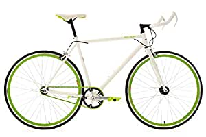 "KS Cycling Flip Flop Vélo fitness 28"" Blanc/Vert TC 56 cm"