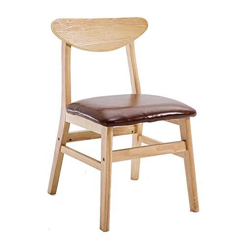 ch-AIR Frühstück Hocker/Esszimmerstühle / Bürostuhl/Hocker / Holzsitz, Bequeme Rückenlehne/Baumwolle Kissen, für Ankleideraum/Arbeitszimmer / Wohnzimmer/Esszimmer, 6 Farben