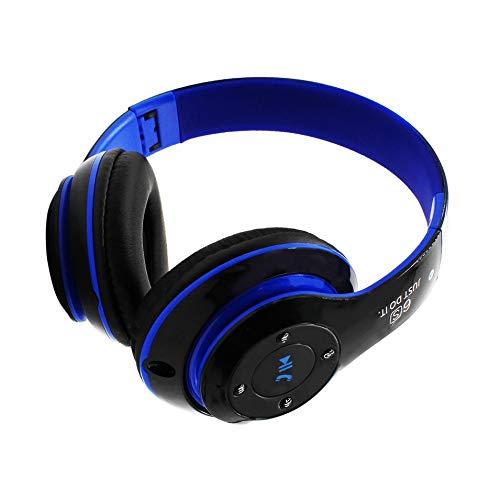 HermosaUKnight Universal-Super-Bass-Wireless-Bluetooth-Over-Ear-Gaming-Headset-Spiel-Kopfhörer-Schwarz & Blau