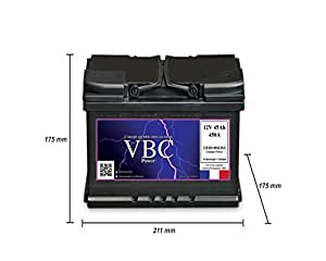 Batterie Auto 12V 45Ah 450A