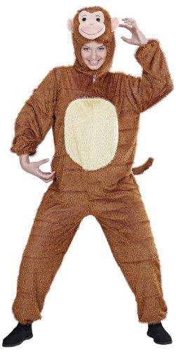 Widmann 9944B - Erwachsenenkostüm Affe, Overall mit Maske, Größe M/L