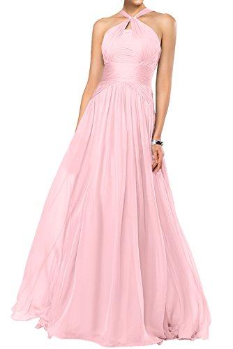 Gorgeous Bride Fashion Rabatte Empire Chiffon Lang Abendkleider Festkleider Ballkleider Rosa