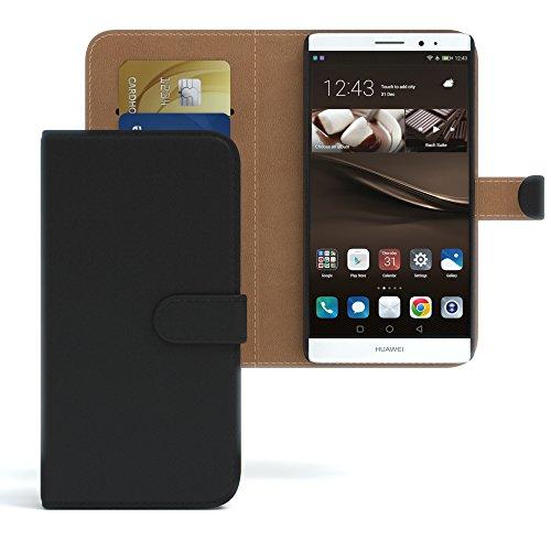 Huawei GT3 Hülle Bookstyle mit Standfunktion I von EAZY CASE I Book-Style Case aufklappbar, Schutzhülle, Flipcase, Flipstyle, Flipcover mit 2 Kartenfächern aus Kunstleder, Schwarz