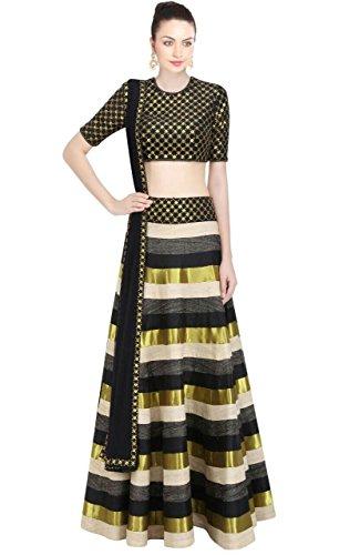 Salwar Style Woman's Multi Color Bangalore Satin Printed Lehenga Choli (Dg_Free Size...