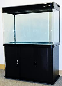 200L Black Cabinet Aquarium Fish Tank Tropical / Marine 100cm 3.3ft with T5 Lighting All Pond Solutions