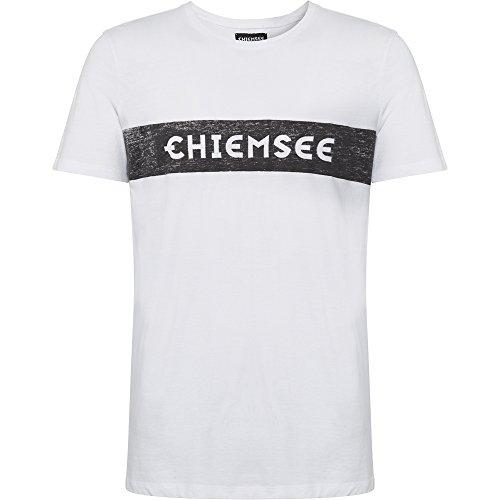 0c1de4fe465c4 Chiemsee plakativen Marca Texto - Camiseta de, Hombre, T-Shirt, mit  plakativen Markenschriftzug, 100 Blanco, Large