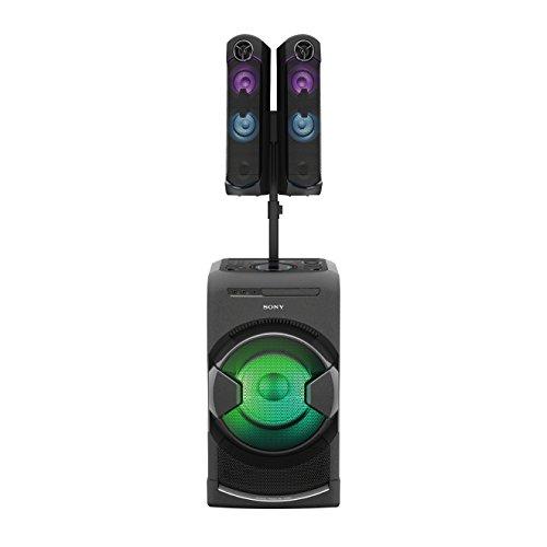 Sony MHC-GT4D Audio Systemanlage (High Power, Party-Soundanlage, LED-Beleuchtung, Gestensteuerung, Mikrofonanschlüsse) schwarz