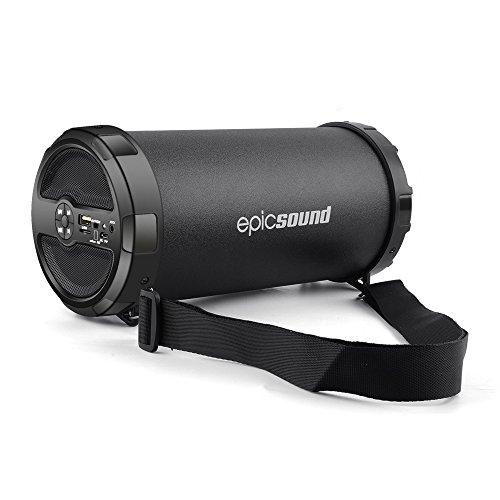Bluetooth Lautsprecher, Kabellose Bluetooth 4.2 Tragbare Lautsprecher mit Powerbank, Unterstützung Aux-in, FM, USB, kompatibel mit allen Bluetooth Geräten (Upgraded Version)