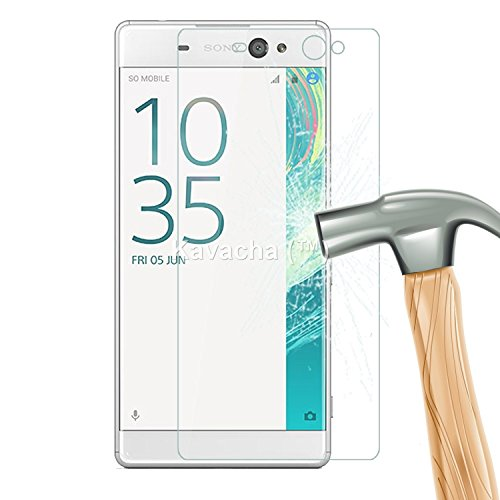 Sony Xperia XA Ultra / Sony Xperia XA Ultra Dual KavachaTM Premium Series Tempered Glass With Smooth Touch 2.5D Curved Edge 0.3mm thin 9H Hardness: High Quality High Definition Toughened Screen Protector for Sony XP XA Ultra