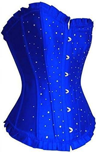 Corsetto esterna che riduce e modella la figura per le donne, le ragazze e le signore Blu