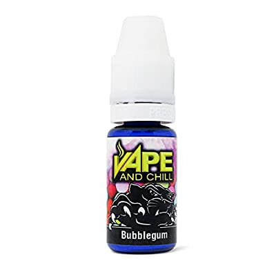 E Cigarette Liquid Bubblegum Non-Nicotine Vaping Juice by Vape and Chill 70-30 VG-PG (10ml Plastic Bottle) by Vape and Chill