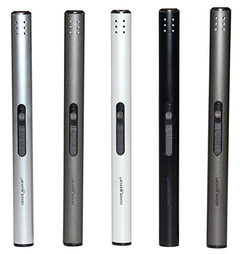 Feuerzeuge 5 Stück, Stabfeuerzeug Gas Aluminium 17 cm lang +1x (Konsumany® Stab- Stumfeuerzeug 12,5 cm Lang)