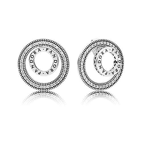 8 - Pandora Pendientes de botón Mujer plata - 297446CZ