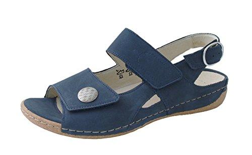 Dames de Waldläufer sandale Heliett 342002-191-217 Denver bleu blau