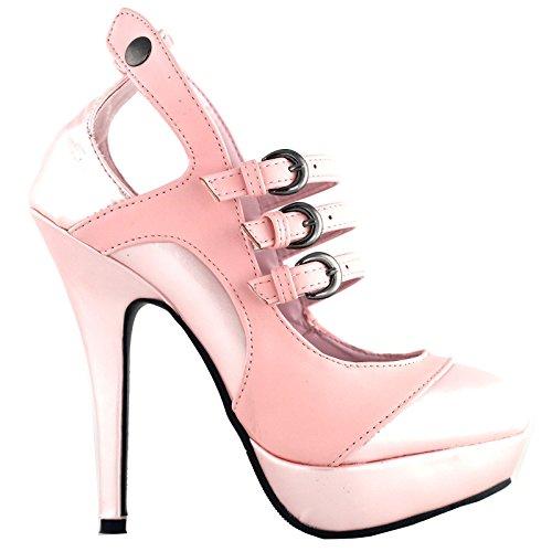 Show Story Glam Mary Jane Baby Rosa Vintage stilvolle Ausschnitt Heels für Frauen, LF30464BP41, 41EU, Babyrosa (Baby-rosa Heels)