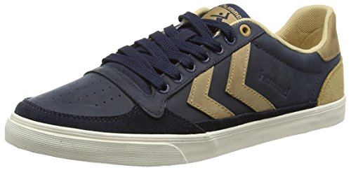 Hummel Slimmer Stadil Oiled Lo, Baskets Basses mixte adulte Bleu - Blau (Total Eclipse 7364)