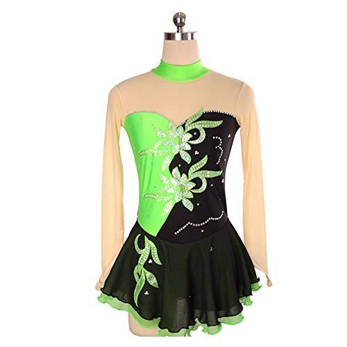DILIKEXUE Eiskunstlaufkleid für Mädchen Frauen Eislaufen Wettbewerb Leistung Kostüm Tanzkostüm Kleid Professionelle Stretch Atmungsaktiv,12,S