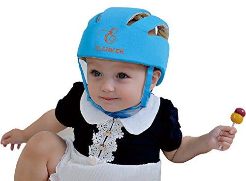 Infant bébé Chapeau Casque de sécurité pour enfant Protection de tête pour marche Ramper bébé enfants Infant Casquette réglable Harnais de protection casque casque de sécurité-Bleu
