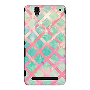 DailyObjects Girly Retro Turquoise Pink Watercolor Lattice Case For Sony Xperia T2 Ultra