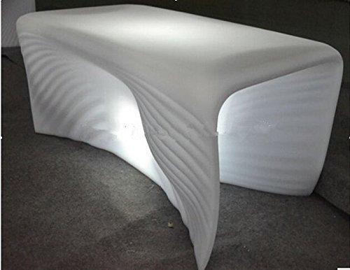 Preisvergleich Produktbild Gowe Couchtisch LED Bubble Light Kunststoff Kaffee Station/Party/Hotel/Wohnzimmer Creative Ocean Shell Linien LED leuchtende Shell Tisch