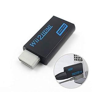 Wii zu HDMI Adapter Konverter, Unterstützt alle Wii-Anzeigemodi,mit Stereo Audio und 720P 1080P HD-Videoausgang über…