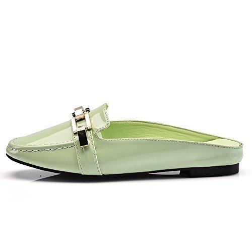 ZPPZZP Presidente, estate, sandali, in stile occidentale, Baotou, fondo piatto e pantofole 39EU