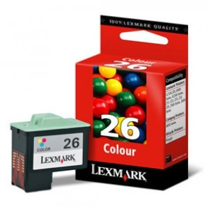 Lexmark # 26Farbe Tintenpatrone Tintenpatronen (cyan, magenta, gelb, i3, X1100, X2200Serie, X74, X75, Z13, Z23, Z25, Z33, Z35, Z500, Z600Serie, Inkjet) (Lexmark Z600)