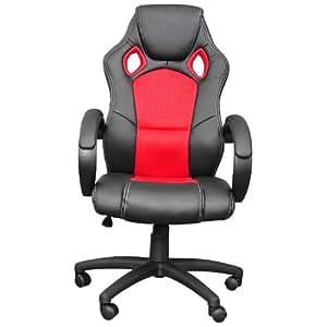 Premium Sportsitz Chefsessel Bürostuhl Racer schwarz/rot 59805