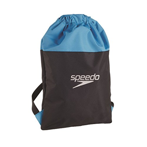 Pool Tasche (Speedo Erwachsene Tasche Pool Bag, Japan Blue/Oxid Grey/Fluo Yell, 27 x 12 x 3 cm, 35 Liter, 8-09063A670ONESIZE)