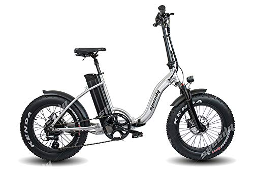 Speedy Ebike - Elegant 250w 48v - 17,5ah Bicicletta Elettrica Pieghevole Fat Bike (Cromo)