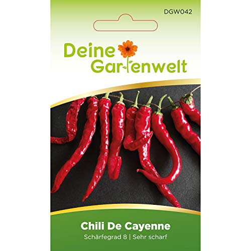 Chili De Cayenne   Samen für scharfe Chilis   Chilisamen   Cayennesamen