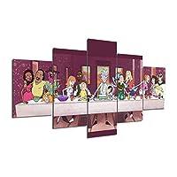 Dionysios Rick and Morty - Cuadro Decorativo para Pared (5 Unidades), diseño de Rick y Morty