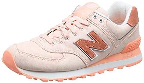 New Balance Damen 574 Textile Sneakers, Pink (Salmon), 38 EU