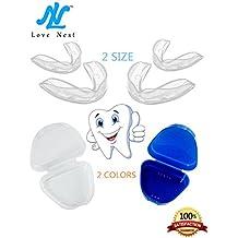 4 x Love Nest Fèrula Dental Placa de Descarga Nocturna Protector Bucal para dormir Apnea del Sueno anti Ronquidos Bruxismo Rechinar los dientes e los Trastornos del ATM (1)