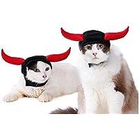 VICTORIE Sombrero de Mascota Fiesta de Halloween Fiesta Cosplay Decoración Cap de Lujo Accesorios para Cat Dog Puppy Ox