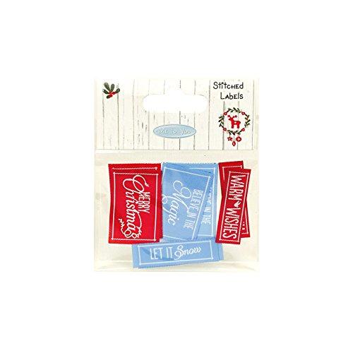 Me to You Weihnachten Bedruckt Karten und Umschläge, Stitched Labels -