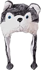 Krystle Plush Animal Hat Costume Cap Cute Soft Faux Fur Stuffed Toy Hood