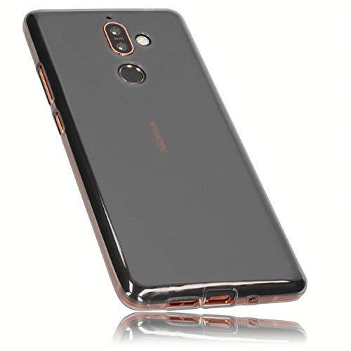 mumbi Schutzhülle für Nokia 7 Plus Hülle transparent schwarz