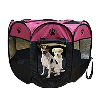 Cage de jeu pliante et portable Meiying pour animal domestique, chien - Pour intérieur et extérieur