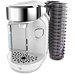 Bosch TAS7004 Tassimo CADDY Multi-Getränke-Automat, 1300 W, große Getränkevielfalt, Kapselhalter, 1,2 L Wassertank, majestic weiß Bosch Tassimo