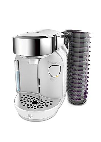 Bosch TAS7004 Tassimo CADDY Multi-Getränke-Automat, 1300 W, große Getränkevielfalt, Kapselhalter, 1,2 L Wassertank, majestic weiß