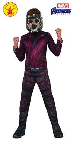 Kostüm Kind Schicksal - Rubie's Offizielles Avengers Star Lord-Kostüm für Kinder, Größe M, Alter 5-7, Höhe 132 cm