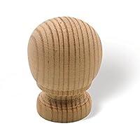 SIRO Möbelknopf Welver, Schlicht, Holz - Kiefer roh, 26 mm x 21 mm x 36 mm, L39A-26HZ5