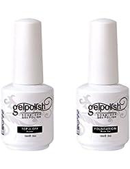 Elite99 Vernis A Ongles Semi-Permanent Gel UV Soak Off Base Top Nail Art Manucure 15ml Kit