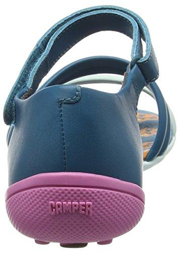 Camper Peu Circuit, Sandales Plateforme femme Bleu (Blue 004)