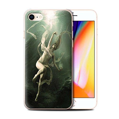 Offiziell Elena Dudina Hülle / Case für Apple iPhone 8 / Goldene Fische Muster / Agua de Vida Kollektion Unterwasser
