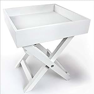 Table d'appoint pliable– Bois blanc 30 x 30 x 36 cm