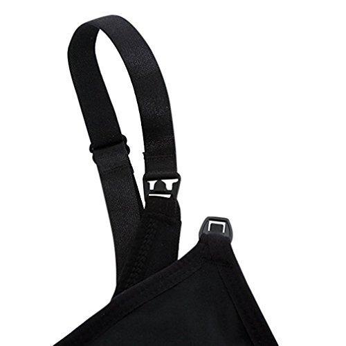 3pcs soutien-gorge Maternité Allaitement Nursing Bra sans armature Enceintes Bras Femme confortable et pratique?inclus rallonges de Soutien-gorge+sac de linge ? Noir